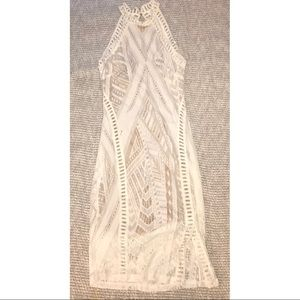 White Lace Halter Dress - New!